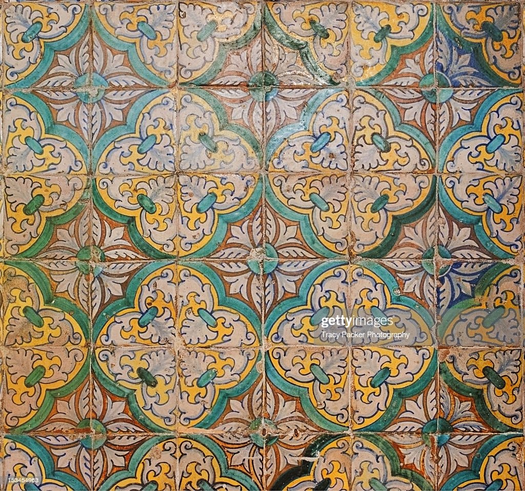 Traditional hand made and decorated tiles.