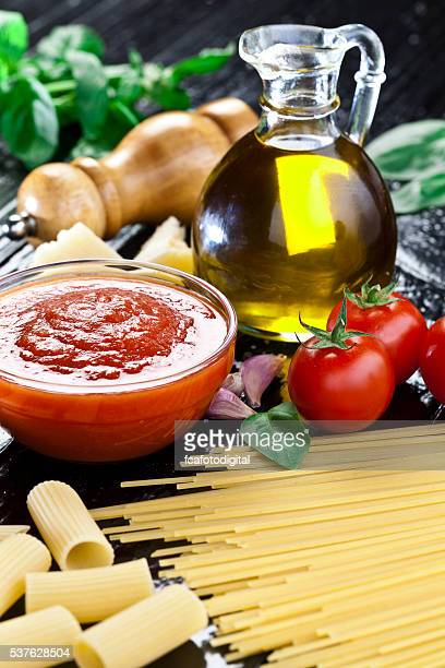 Traditional homemade tomato sauce