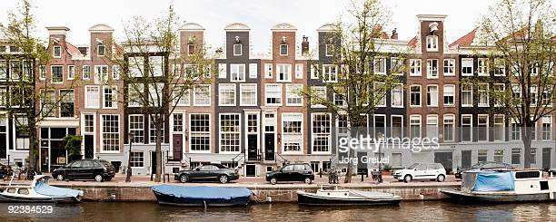 Traditional houses by Prinsengracht canal