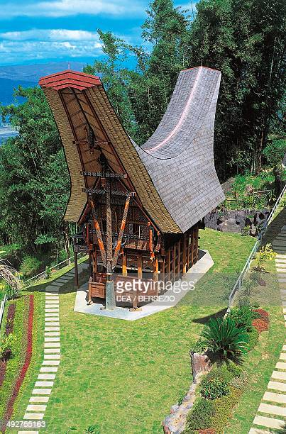 Traditional houses of the Toraja people Sulawesi island Indonesia
