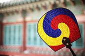 traditional image of Korea,traditional fan