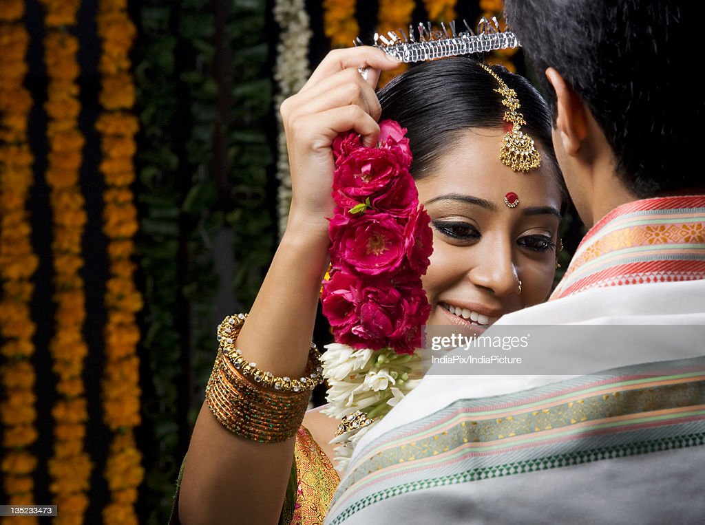 Traditional Indian bride : Stock Photo