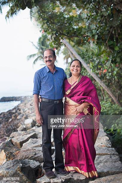 Traditional Indian couple hosts of a homestay