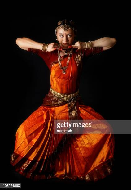 Traditional indian dance position: the demon