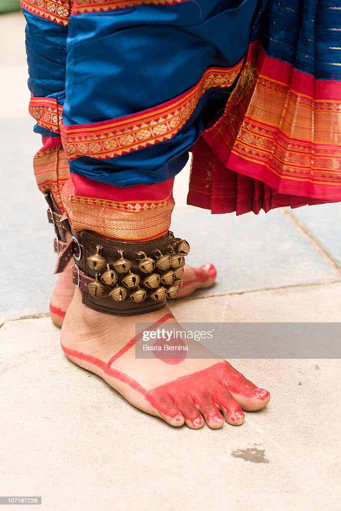 Traditional Indian Dancer's Feet. : Stock Photo