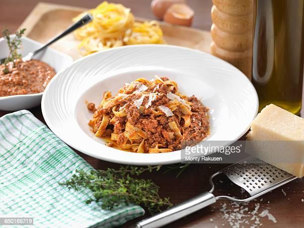 Traditional Italian meal Tagliatelle Alla Bolognese