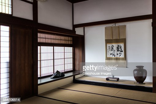 traditional japanese house interior nanzenji temple kyoto japan stock
