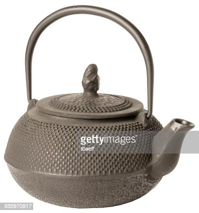 traditional Japanese teapot. isolated on white background. : Stock Photo
