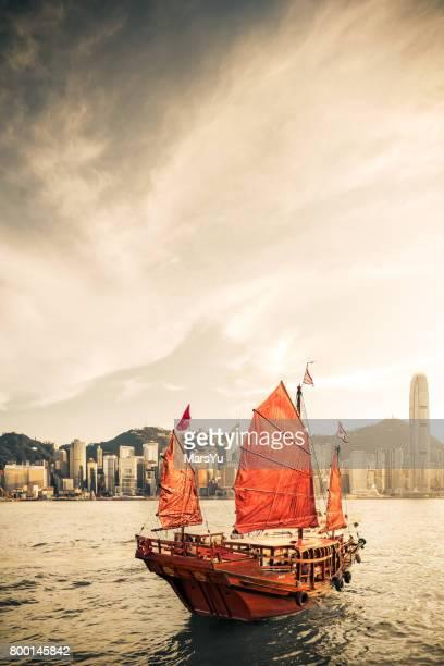 Traditional Junk Boat at HongKong