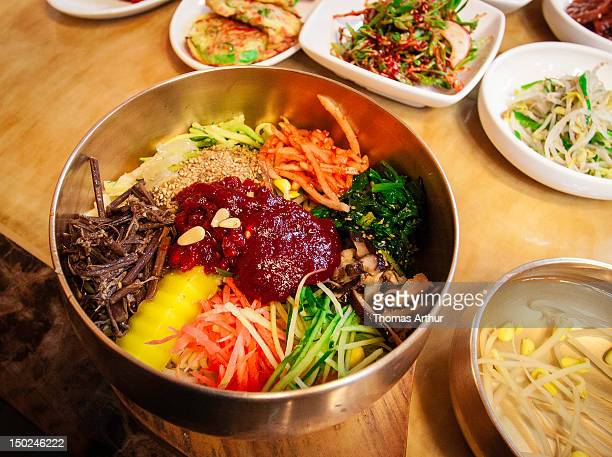 Jeonju stock photos and pictures getty images for Authentic korean cuisine