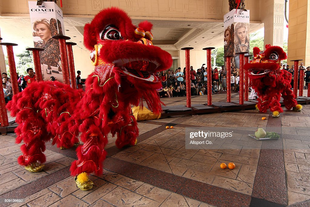 Traditional Lion Dancers perform at a shopping mall on the 2nd day of Lunar New Year celebrations on February 9, 2016 in Kuala Lumpur, Malaysia.The Chinese New Year, also known as the Spring Festival, is celebrated from the first day of the first month of the lunar year and ends with Lantern Festival on the Fifteenth day.