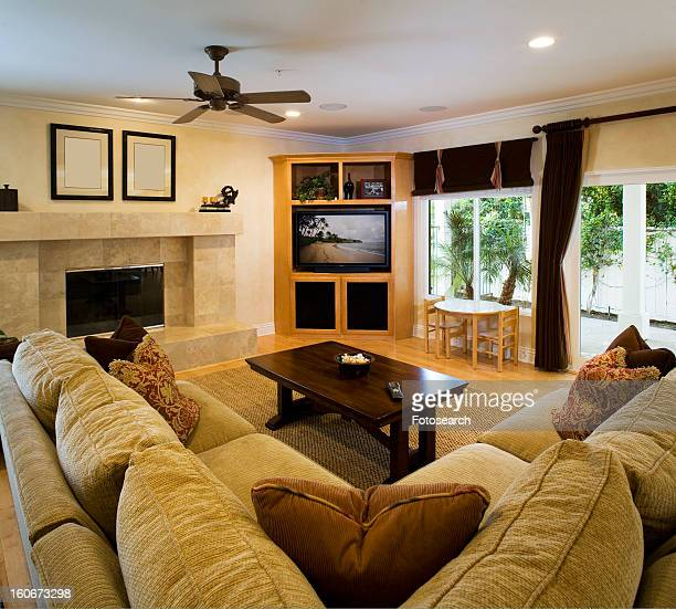 Living Room With Fireplace And Sliding Doors: Nn Child Pics Stock Photos And Pictures