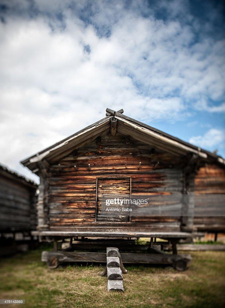Traditional log cabin, Arjeplog, Lapland, Sweden
