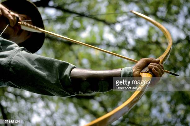 traditional longbow archer