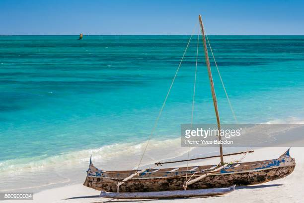 Traditional Malagasy outrigger canoe