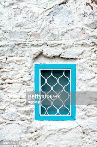 Traditionelle mediterrane Fenster : Stock-Foto