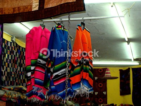 84aa70c40bf Traditional Mexican Clothing Store Stock Photo - Thinkstock
