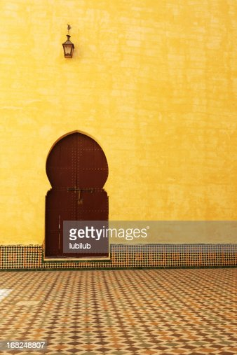 Traditional Moroccan Door inside the Mausoleum of Moulay Ismail