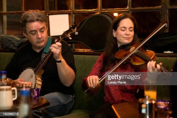 Traditional music at Hughes' pub.