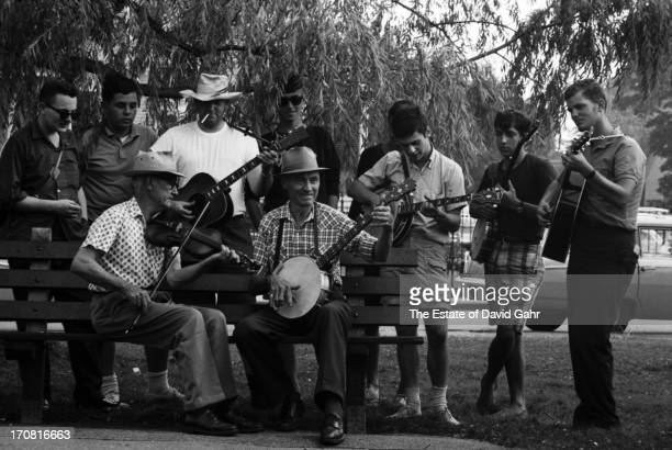 Traditional musician and fiddler French Carpenter and traditional musician and bajoist Jenes Cottrell both West Virginiaborn lead an oldtimey song...
