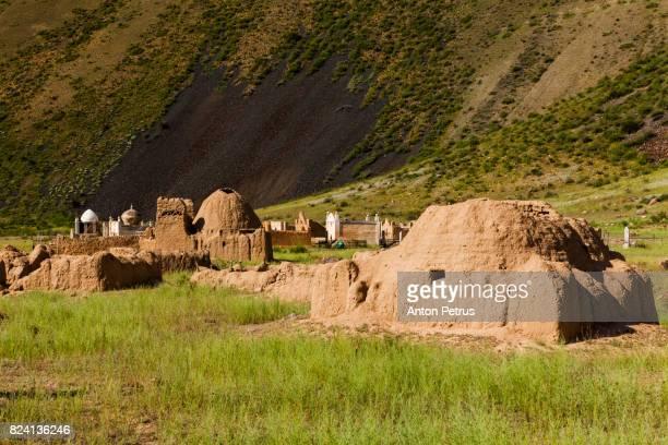 Traditional Muslim cemetery in Kirghizia, Kyzyl-Oy