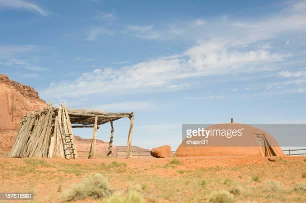 Tradicional Cabana de Índios Navajo