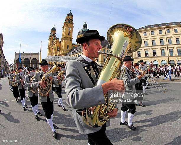 Traditional parade at Oktoberfest, Munich, Bavaria