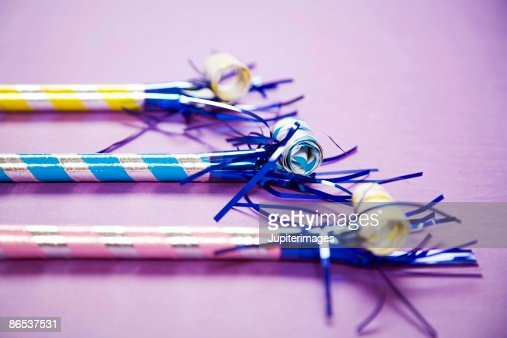 Traditional party blowers : ストックフォト