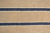 Traditional pattern mats are made by weaving rope. Abstract texture of natural carpet background.