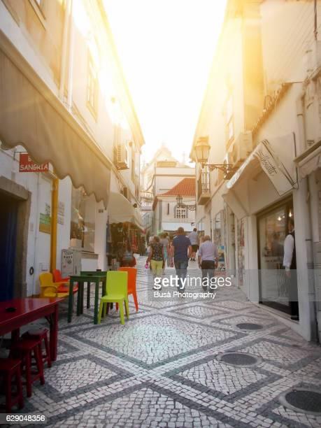 Traditional pedestrian street in Albufeira, Algarve, Portugal