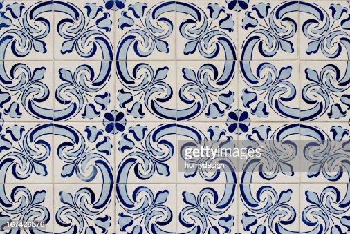Azulejos de vidrio tradicional portuguesa : Foto de stock