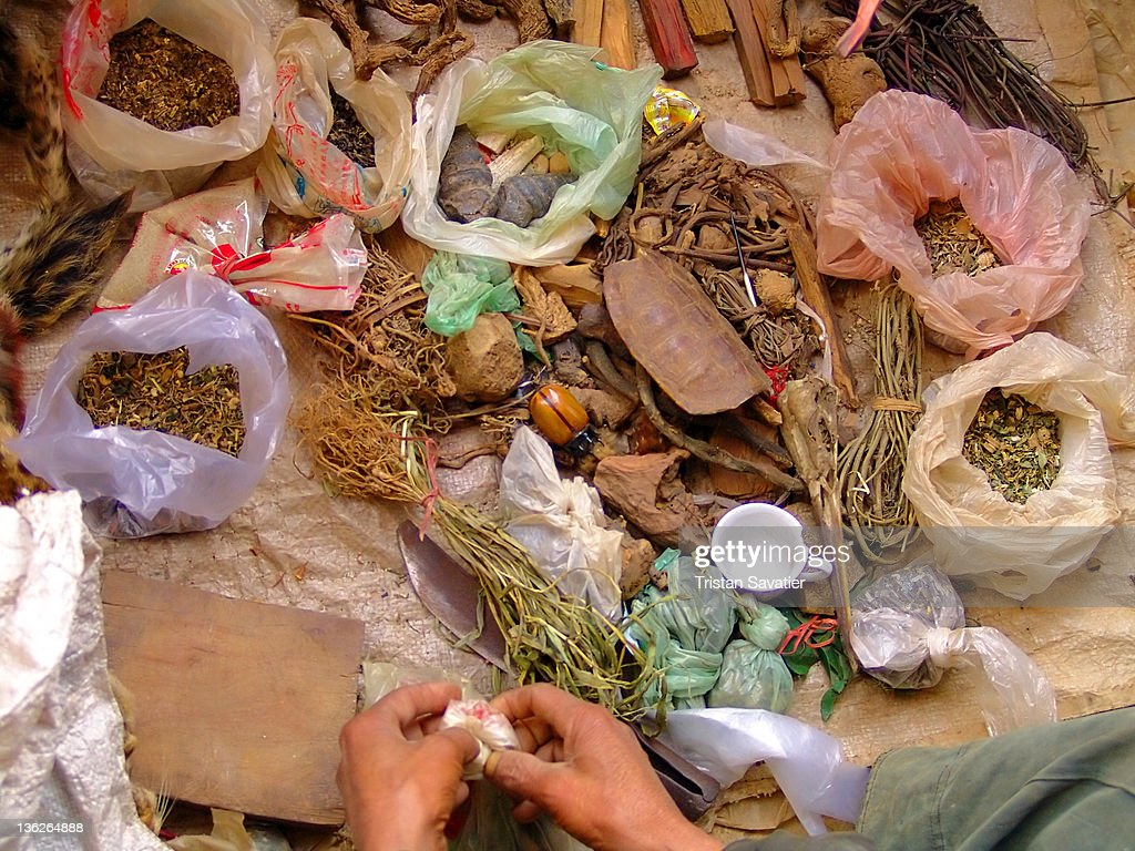 Traditional remedies of medicine man (shaman)
