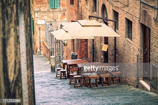 'Traditional restaurant in Siena, Tuscany'