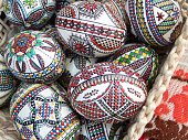 traditional romanian hand painted easter eggs