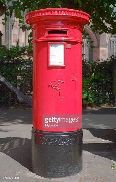 Traditional Royal Mail postbox in Chester Cheshire UK