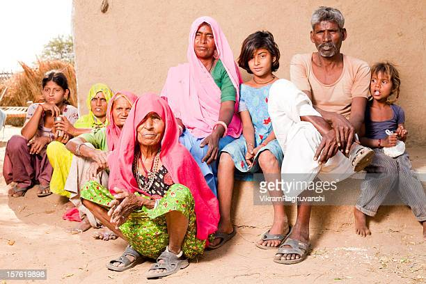 Traditional Rural Indian Family in a village of Rajasthan