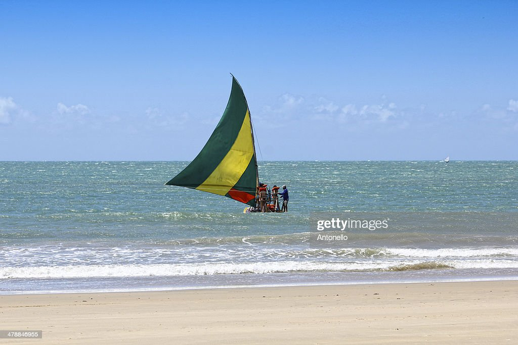 Traditional Sailboat of Ceará : Foto de stock