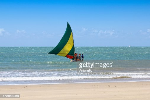 Traditional Sailboat of Cear? : Foto de stock