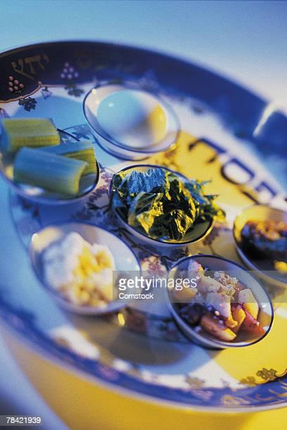 Traditional Seder Platter for Passover