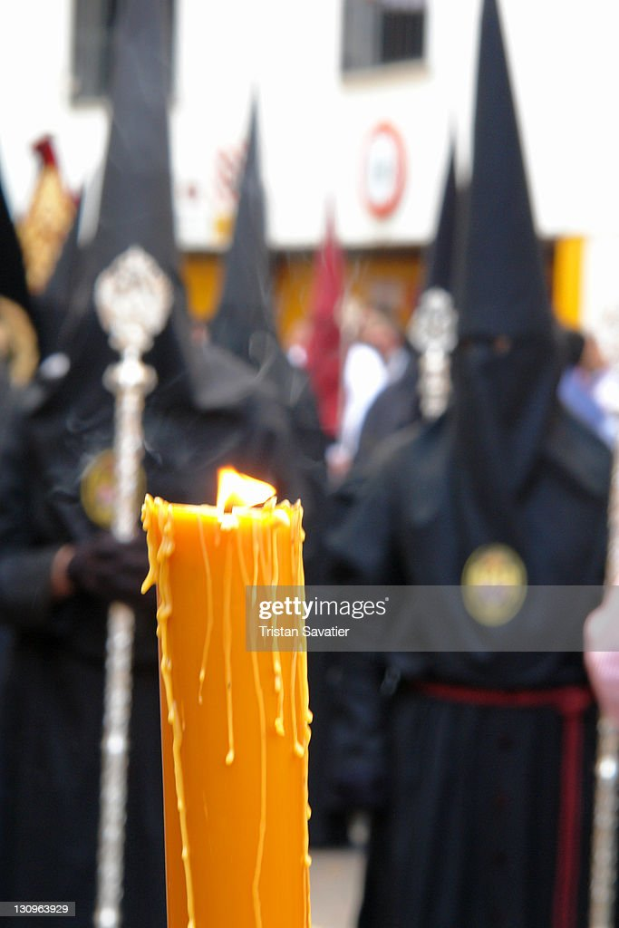Traditional Semana Santa processions in Sevilla : Stock Photo