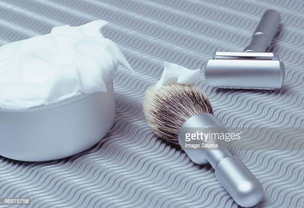 A traditional shaving kit