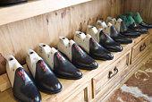 Traditional shoemaker workshop