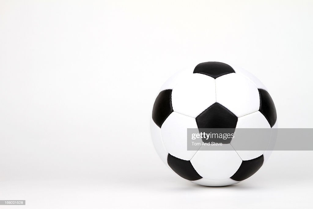 Traditional soccer ball on a white background : Stock Photo