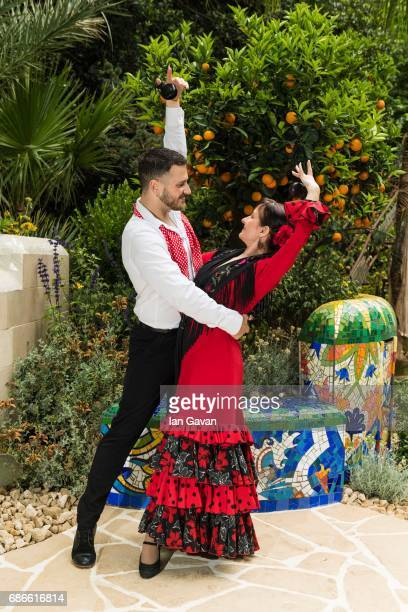Traditional Spanish flamenco dancers perform at the RHS Chelsea Flower Show on May 22 2017 in London United Kingdom Created by multi award winning...