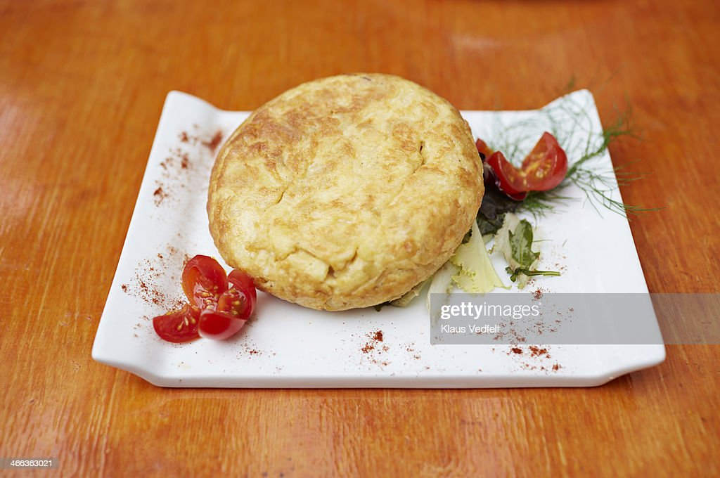 Traditional spanish tapas, Tortilla omelet : Stock Photo