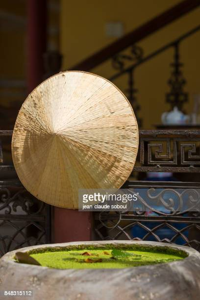 traditional straw hat, in Ninh Binh (vietnam)