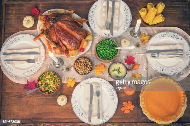 Traditional Stuffed Thanksgiving Turkey Dinner