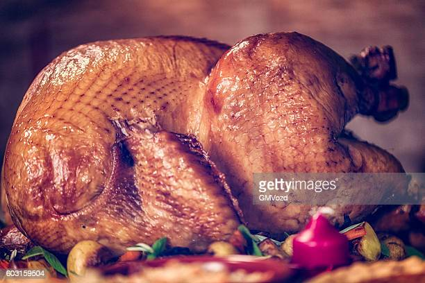 Traditional Stuffed Turkey for Holiday Dinner