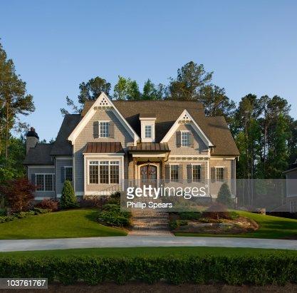 Traditional Suburban House : Foto de stock
