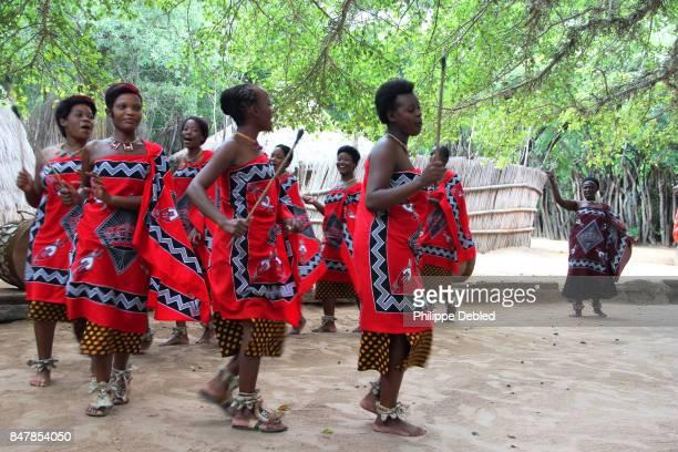 Traditional Swazi song and dance at Swazi village Matsamo
